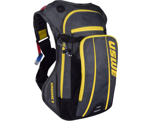 USWE Airborne 9 Backpack, grey/yellow
